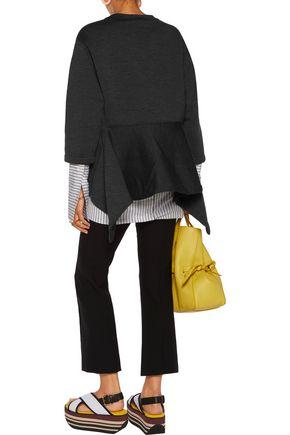 MARNI Asymmetric stretch wool-blend sweatshirt