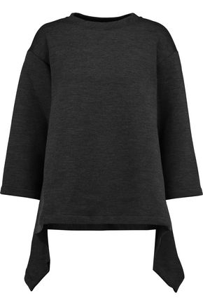 MARNI Asymmetric stretch wool-blend sweatshirt