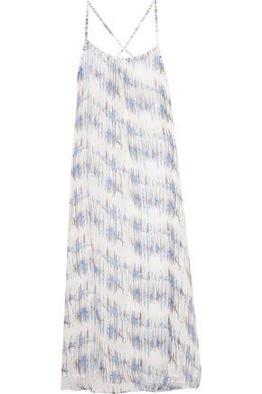HEIDI KLEIN Printed silk-chiffon coverup