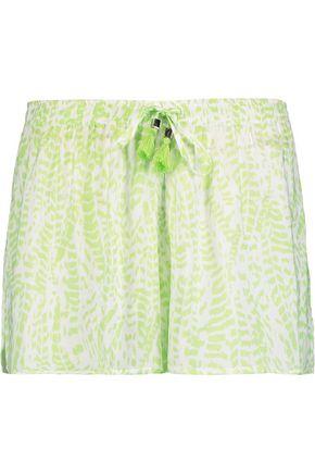 HEIDI KLEIN Tasseled printed voile shorts