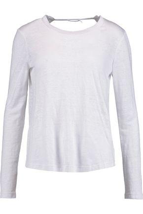 A.L.C. Williams open-back linen top
