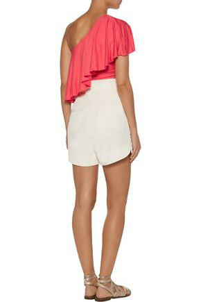 KAIN LABEL Kirra one-shoulder ruffled stretch-modal top