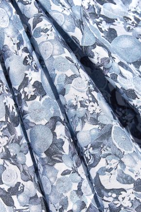 STELLA McCARTNEY Beaded printed cotton and silk-blend voile kaftan