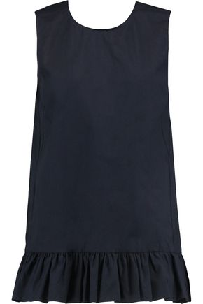 MARNI Gathered cotton-poplin top
