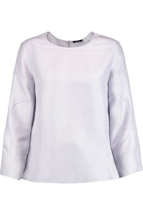 RAOUL Bonnie washed-silk top