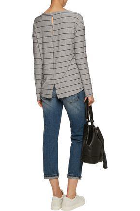 SPLENDID Striped cutout jersey top