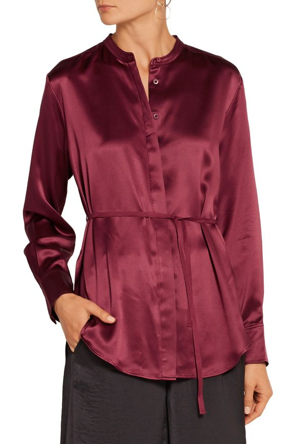 Wiley silk-satin shirt | ELIZABETH AND JAMES | Sale up to 70% off | THE  OUTNET