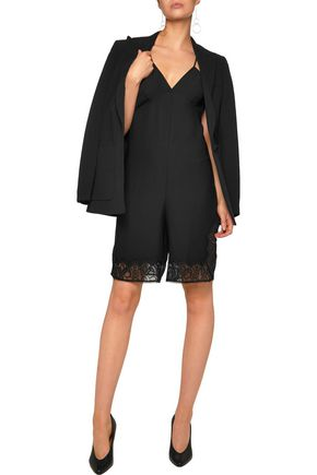 MAJE Isadora corded lace-trimmed crepe playsuit