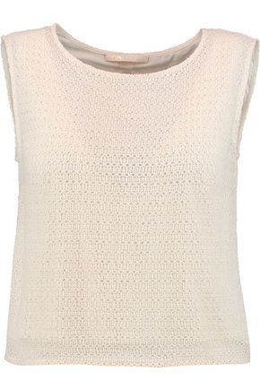 MAJE Crocheted cotton top