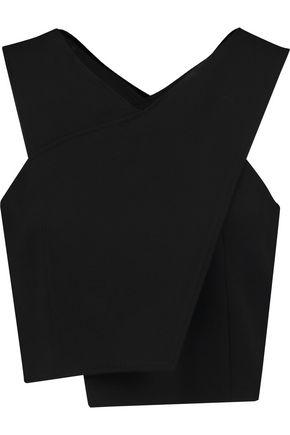 MAJE Wrap-effect crepe top