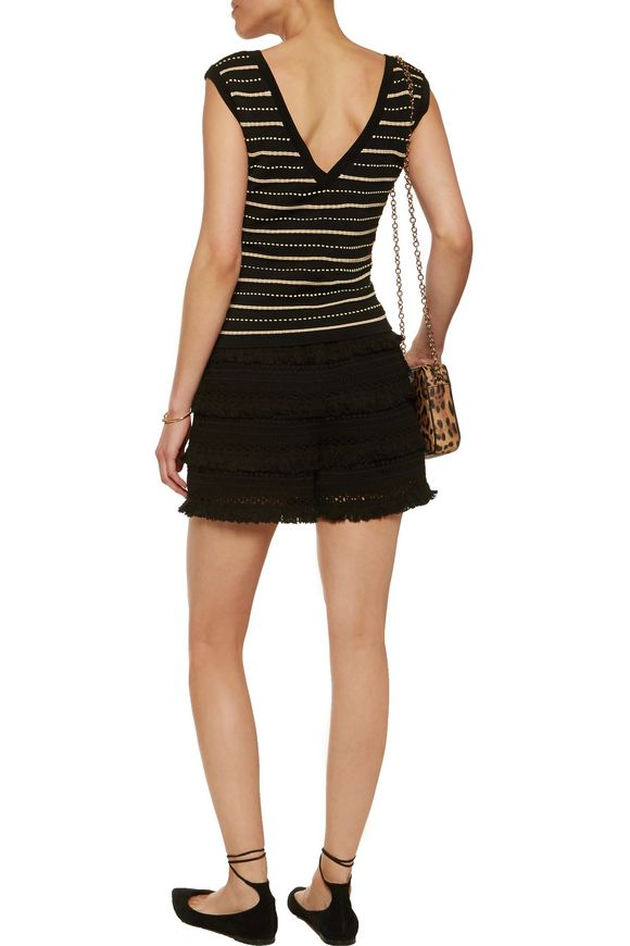 Sarah striped intarsia-knit top | SANDRO | Sale up to 70% off | THE OUTNET