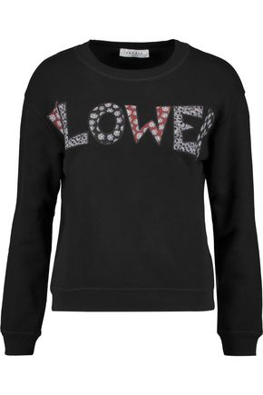SANDRO Tracy appliquéd jersey sweatshirt