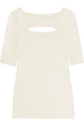 BAILEY 44 Northan cutout crochet-trimmed stretch-jersey top