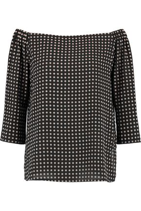 BAILEY 44 Off-the-shouler printed crepe top