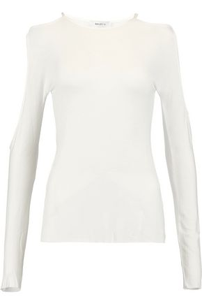 BAILEY 44 Cold-shoulder stretch-jersey top