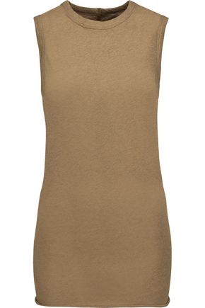 ENZA COSTA Cotton and cashmere-blend tank