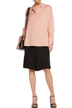STELLA McCARTNEY Lucas ruched cotton-blend poplin shirt