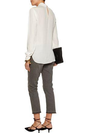 L'AGENCE Kendra cutout silk-chiffon blouse