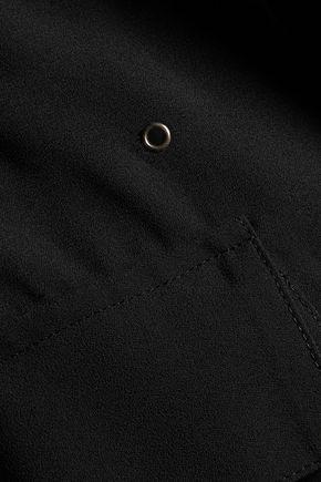 L'AGENCE Eyelet-embellished crepe shirt