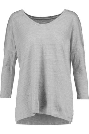MAJESTIC Slub stretch-linen top