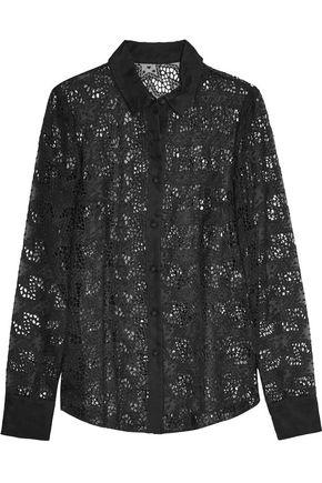 REDValentino Broderie anglaise silk-organza shirt