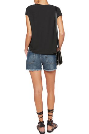 JAMES PERSE Cotton and linen-blend top