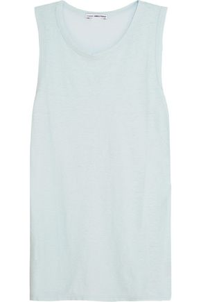 JAMES PERSE Tomboy cotton and linen-blend tank