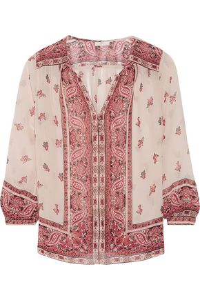 JOIE Haya printed silk blouse