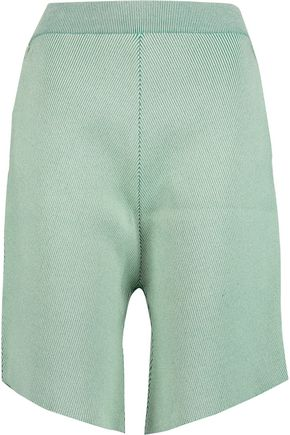 STELLA McCARTNEY Ribbed stretch-knit shorts