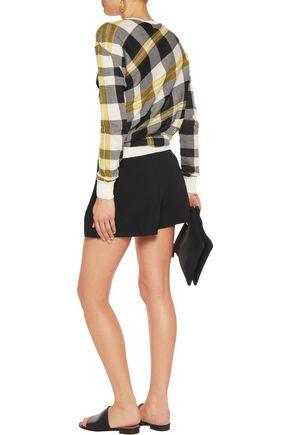 STELLA McCARTNEY Frank pleated crepe shorts
