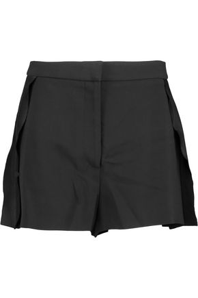 STELLA McCARTNEY Frank pleated crepe shorts