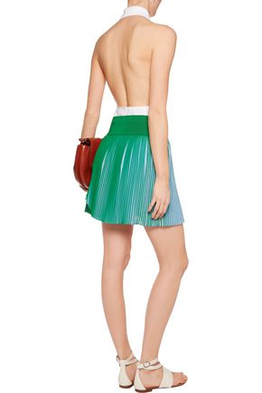 STELLA McCARTNEY Amandine pleated wrap-effect crepe shorts