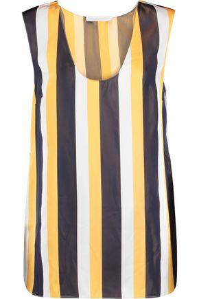 STELLA McCARTNEY Olaf striped satin top