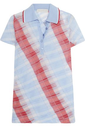 STELLA McCARTNEY Checked woven cotton top