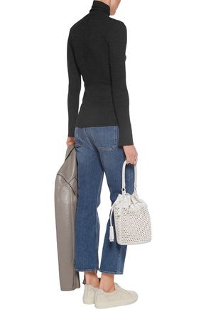 ENZA COSTA Ribbed modal-blend turtleneck top
