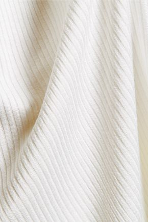 MONROW Ribbed stretch-jersey T-shirt