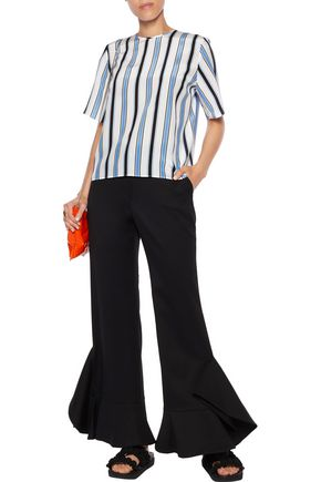 MSGM Striped silk top
