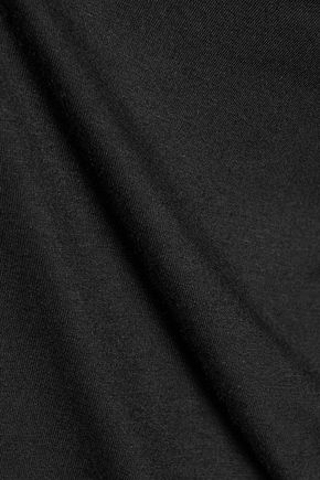 HAUTE HIPPIE Cutout stretch-jersey turtleneck top