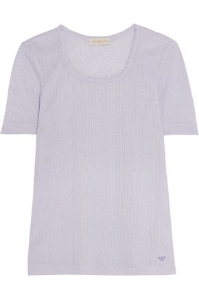 TORY BURCH Cameron ribbed-knit top