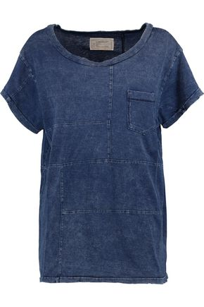 CURRENT/ELLIOTT Distressed cotton T-shirt
