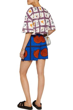 STELLA JEAN Printed cotton top