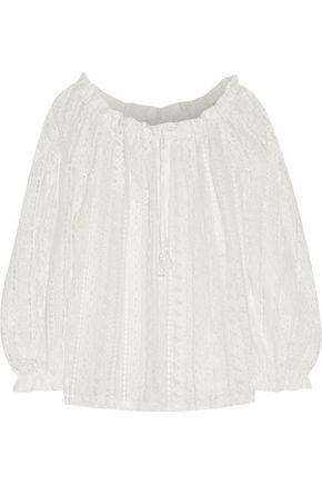 MAJE Cotton-blend corded lace top