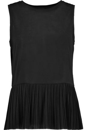 THEORY Elvnee pleated jersey top