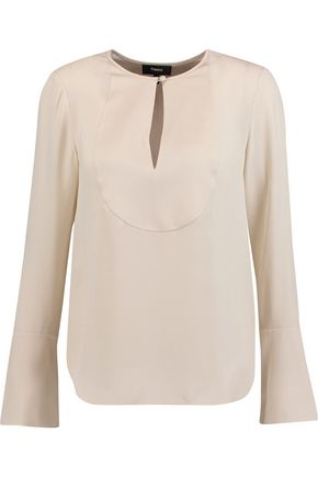 THEORY Bahlee silk blouse