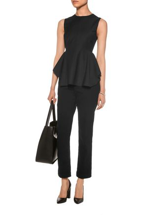THEORY Kalsing wool-blend peplum top