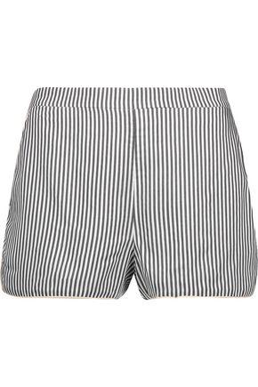 LA LIGNE Soleil striped crepe de chine shorts