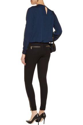 MICHAEL MICHAEL KORS Cutout silk-satin blouse
