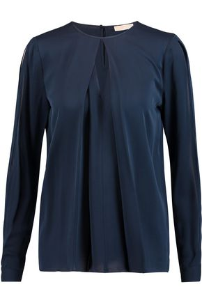MICHAEL MICHAEL KORS Cutout silk-satin blouse