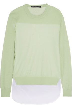 MARC BY MARC JACOBS Paneled stretch-cotton sweater