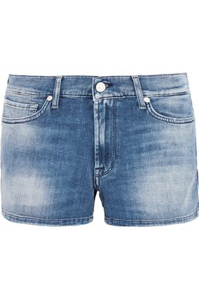 7 FOR ALL MANKIND Faded denim shorts